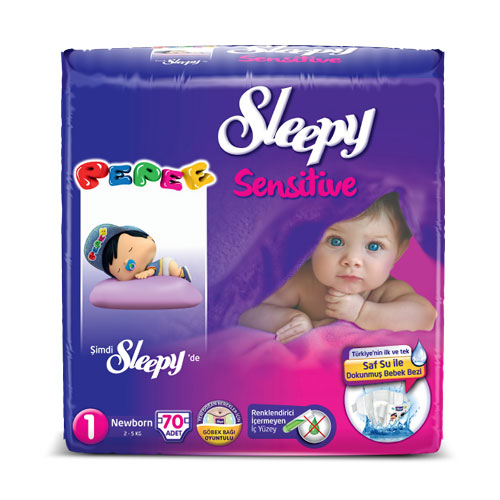 Sleepy Sensitive Newborn Jumbo 70`li Bebek Bezi 1 Numara
