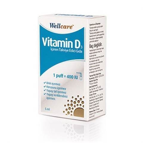 Wellcare Vitamin D3-400 IU 5 ml Sprey