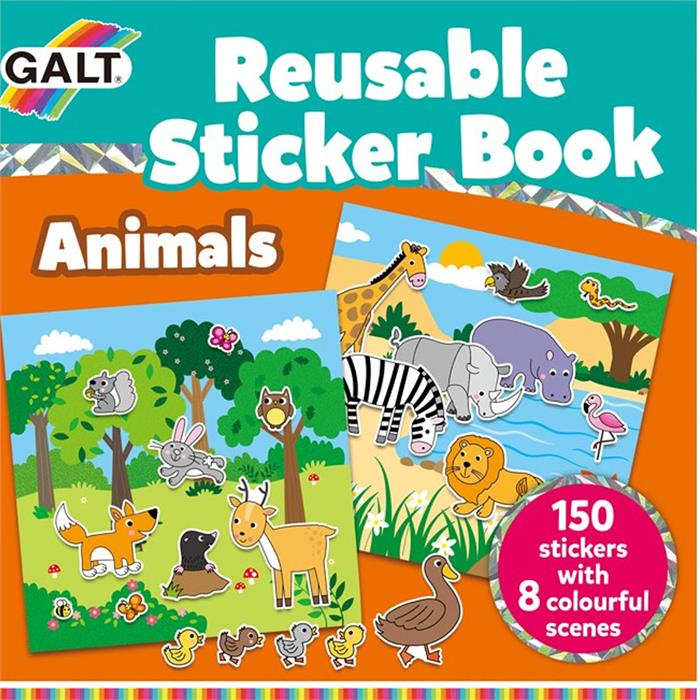 Galt Animals Reusable Sticker Book 1005098